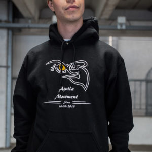 Clasic AQUILA hoodie black
