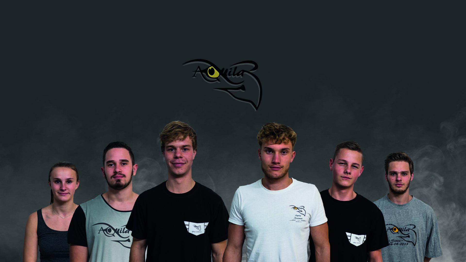 Foto van het freerunning team