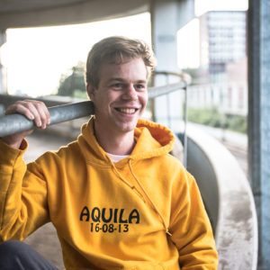 Epic yellow AQUILA hoodie
