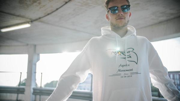 Clasic AQUILA hoodie white